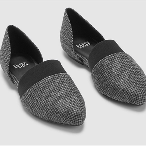 Eileen Fisher Flute Houndstooth Flat 9